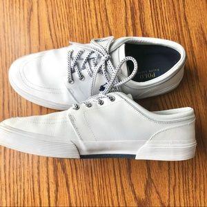 Polo by Ralph Lauren Shoes - Polo Ralph Lauren Faxon Low White Sneakers Size 11